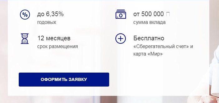 вклад доходный в почта банке