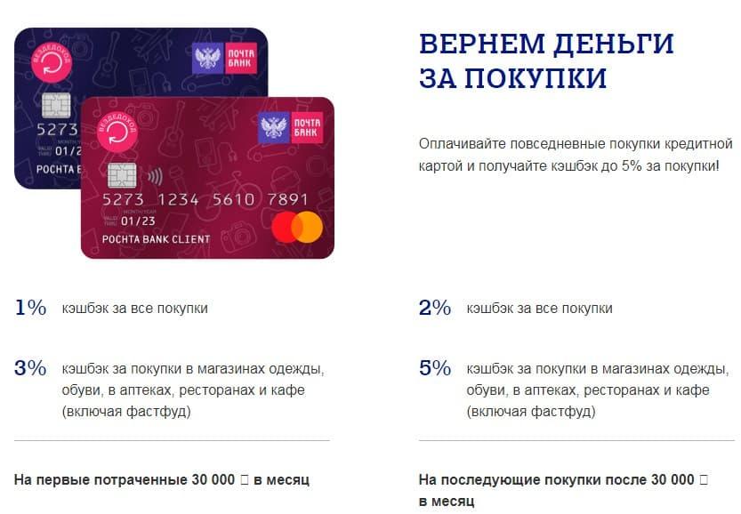 кэшбэк по кредитной карте вездедоход